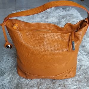 NICOLI Made in Italy Leather Shoulder Bag Large